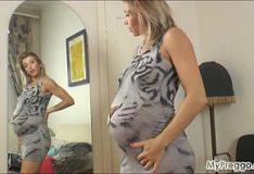 Sensacional gravida Rita Rush no porn hunb